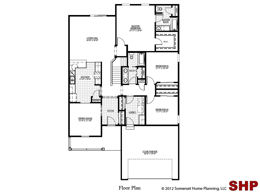 Free home plans garage under floor plans for Garage under house plans